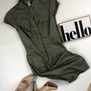 H&M 🌿 Cap Sleeve Sheath Dress Size 2